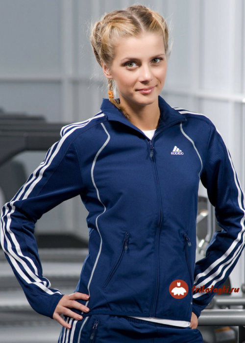 Олимпийка темно-синяя женская
