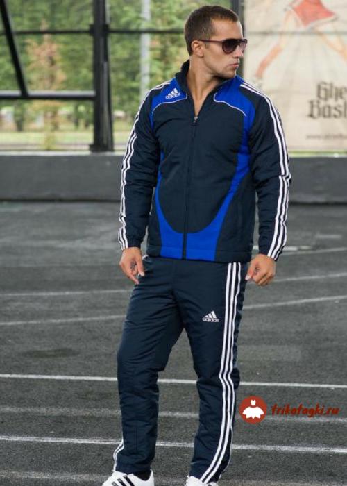 Олимпийка темно-синяя мужская