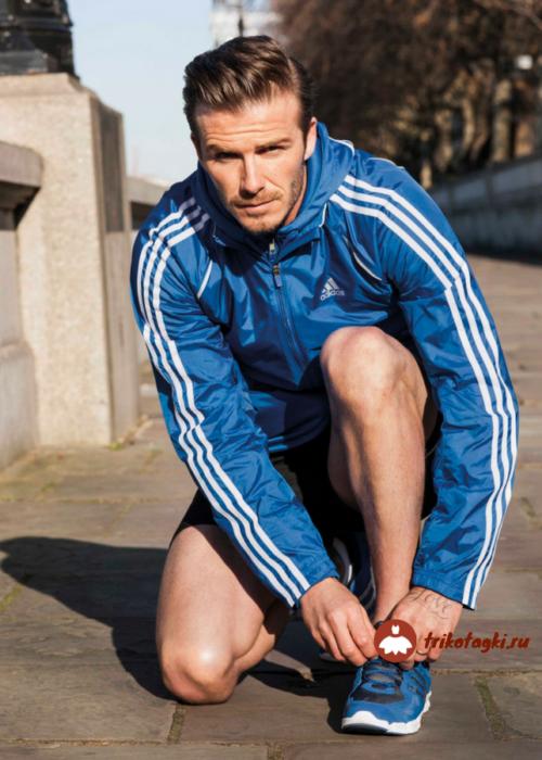 Олимпийка мужская синяя