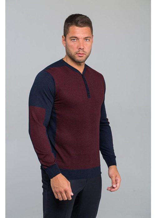 Пуловер мужской коричневый