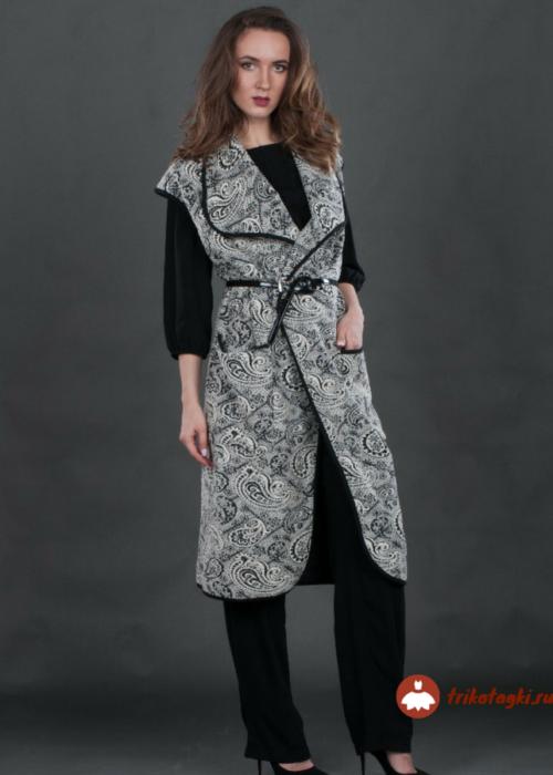 Пальто без рукавов женское