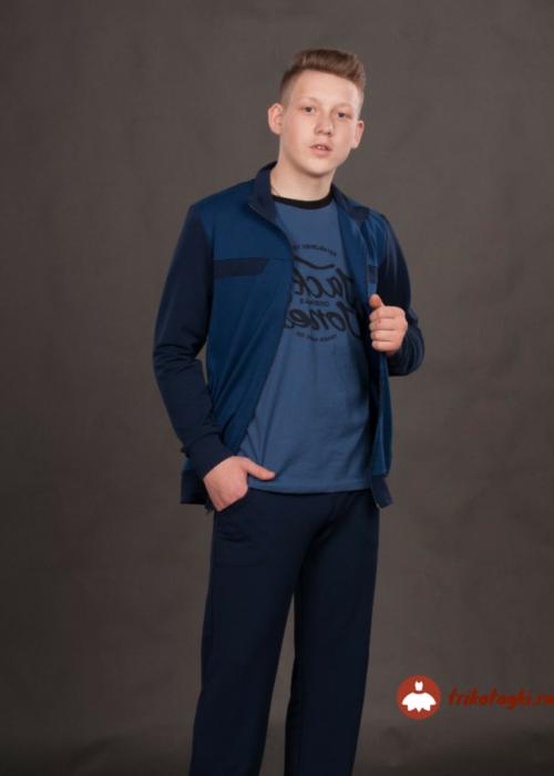 Спортивный костюм синий мужской