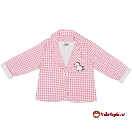 Рубашка розовая в клетку для девочки