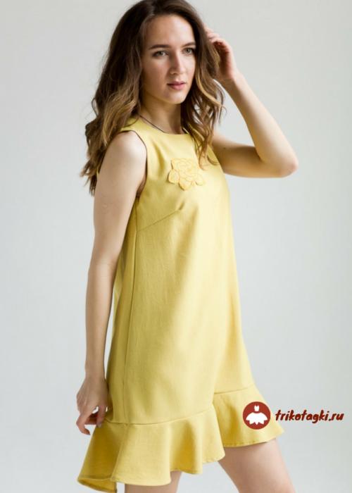 Платье летнее  без рукавов желтое