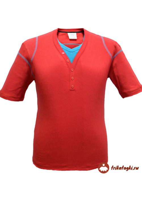 Мужская футболка поло красная