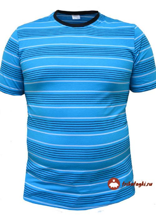 Мужская футболка голубая в полоску