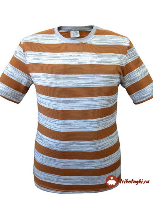 Мужская футболка в коричневую полоску