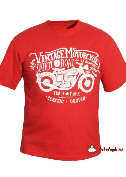 Мужская футболка красная с принтом