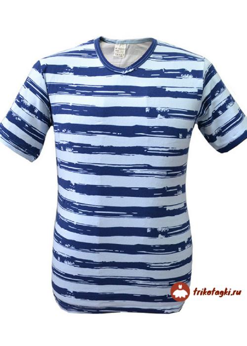 Мужская футболка в синюю полоску