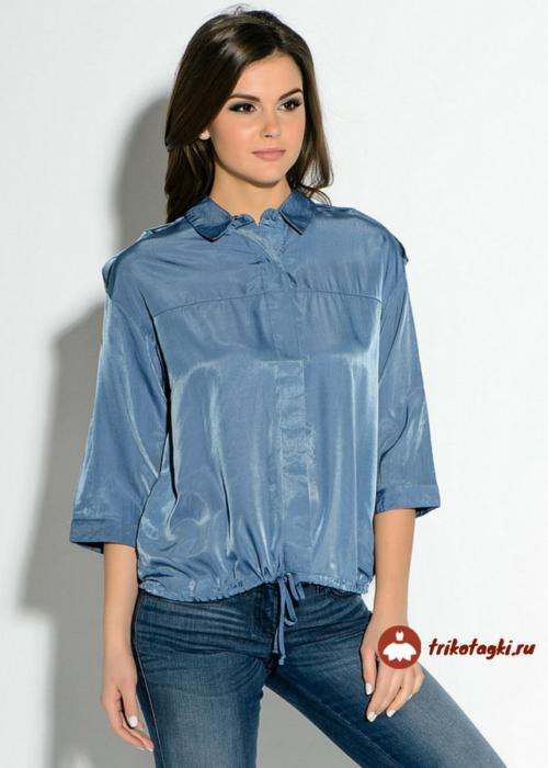 Блузка женская с рукавом три четверти