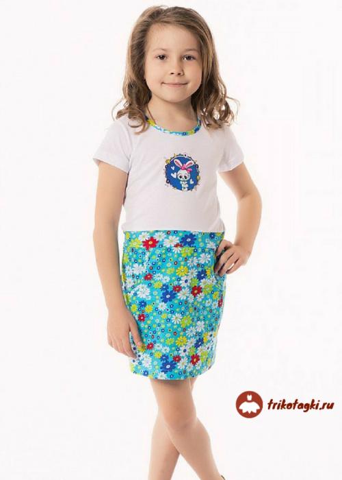 Платье летнее на девочку с цветочками