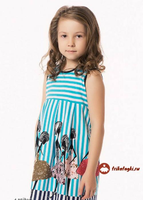 Платье летнее на девочку в полоску