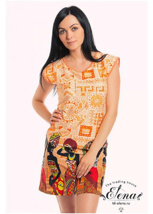 Платье летнее с орнаментом на подоле