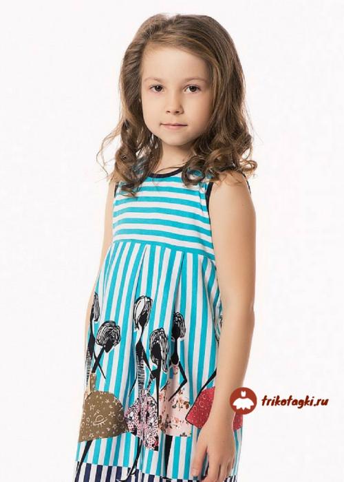 Платье в полоску детское летнее