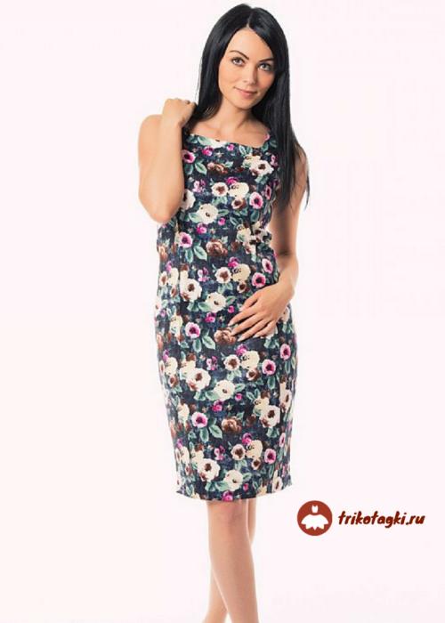 Платье летнее с цветочным принтом