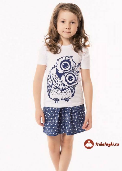 Костюм для девочки лектний (футболка и юбка