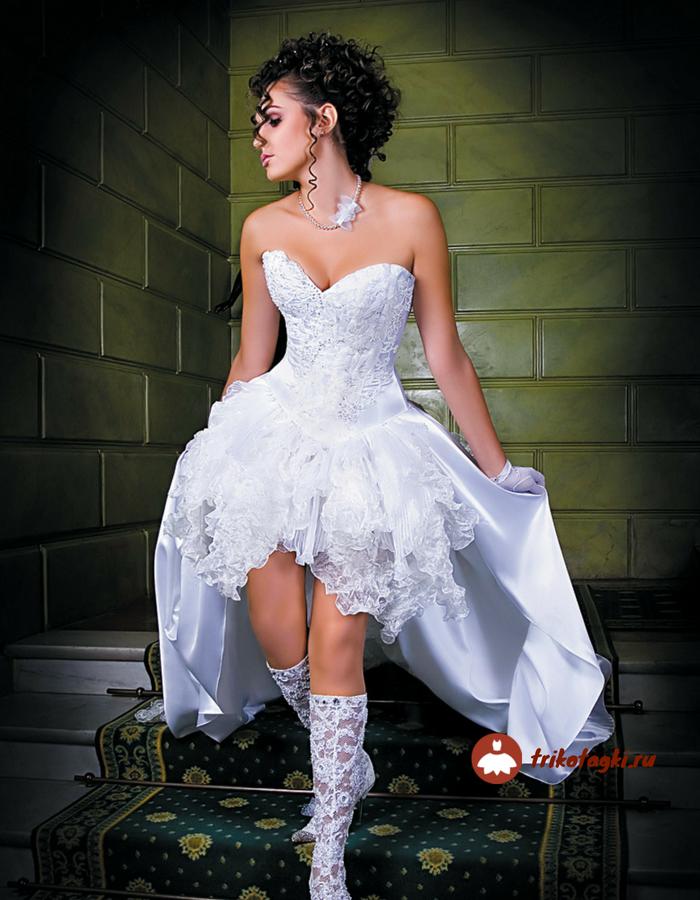 Свадебное платье с вырезом Анжелика