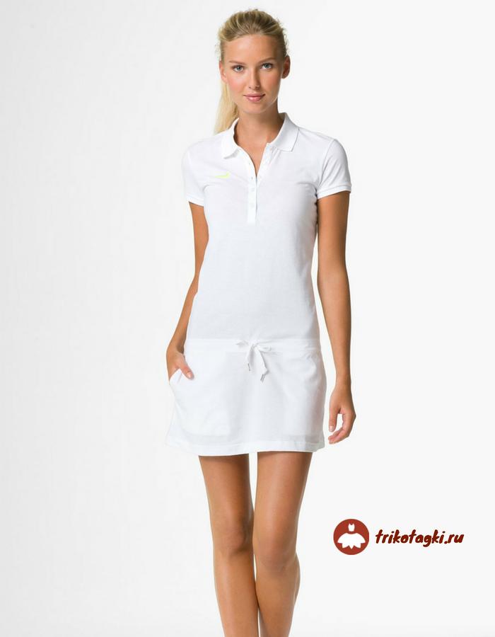 Белое платье поло