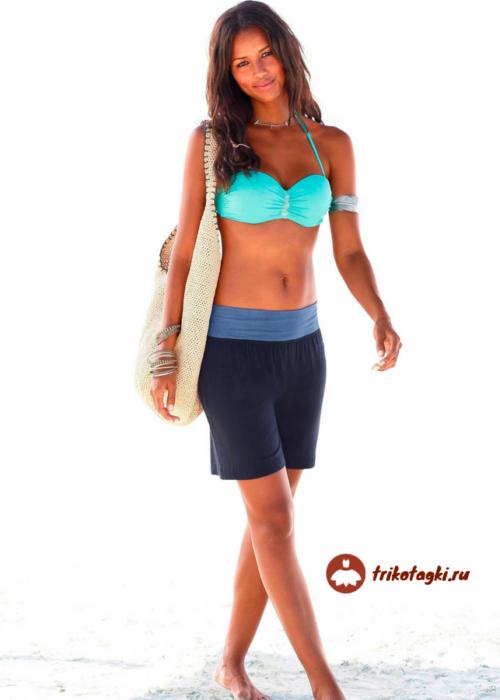 Бермуды женские спортивные черные