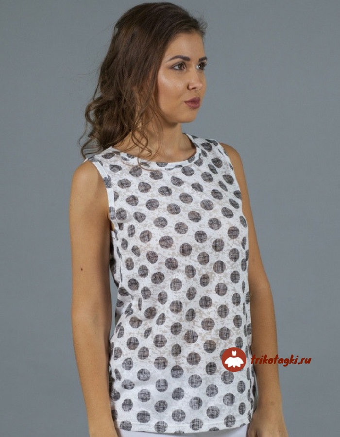Женская летняя одежда туника в горох