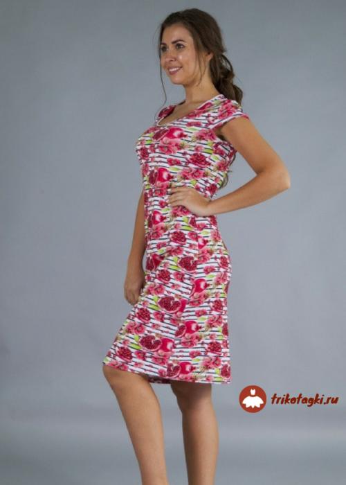 Платье женское с гранами