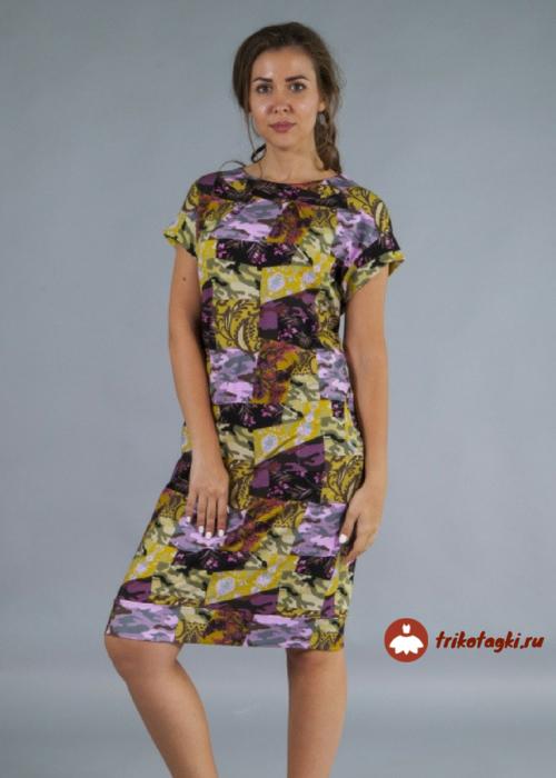 Платье женское до колен милитари