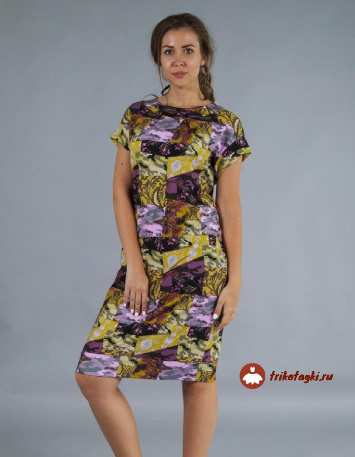 Платье до колена в стиле милитари
