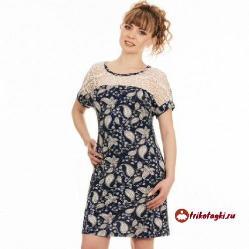 Туника - платье цветное