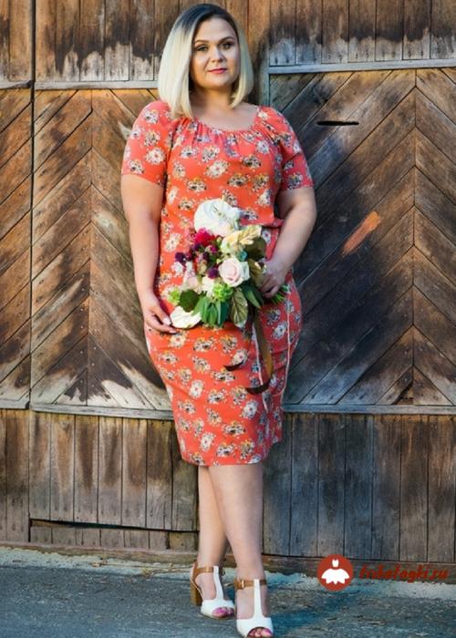 Платье красное с рисунком короткое