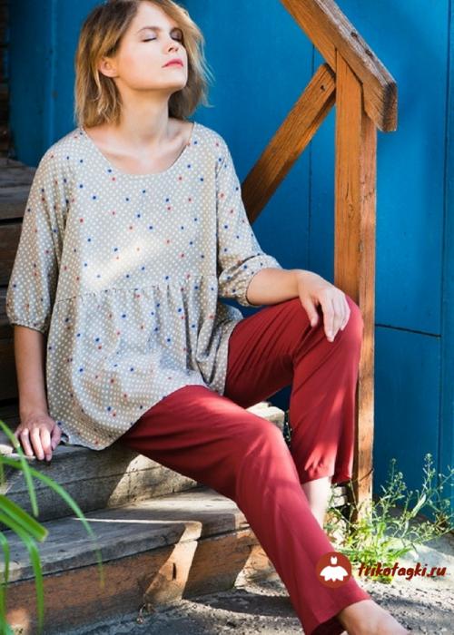 Блузка женская светло-серая