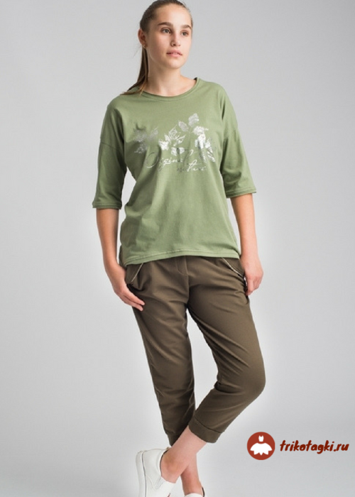 Женские капри и футболка из трикотажа
