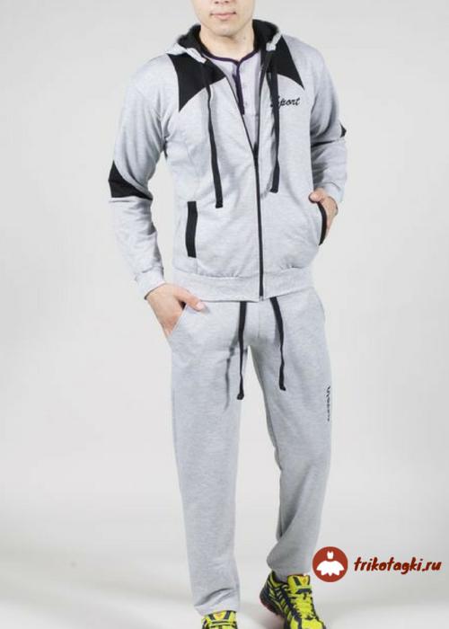 Костюм спортивный мужской серый