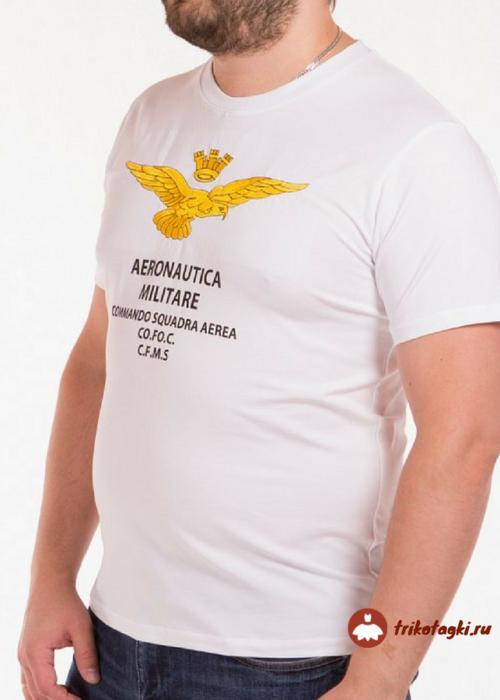 Белая мужская футболка с надписью