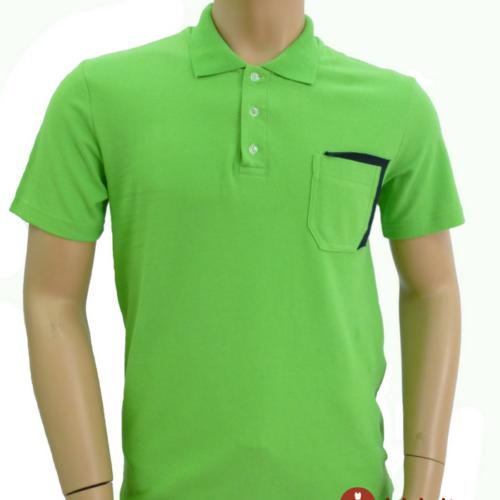 Мужская футболка поло зеленая