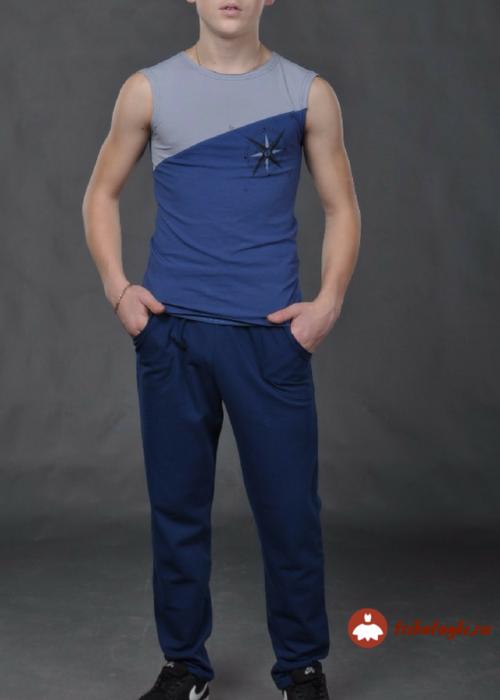 Борцовка мужская синяя
