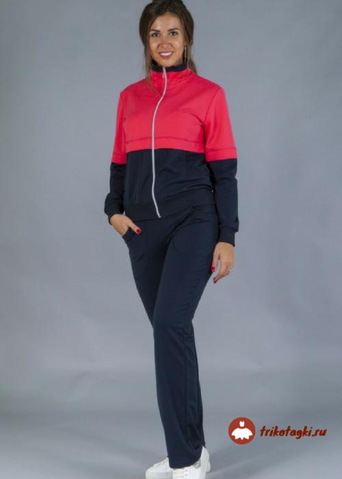 Женский спортивный костюм с красной вставкой