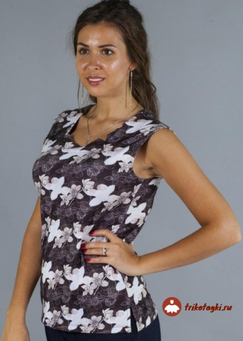Блузка летняя женская с рисунком