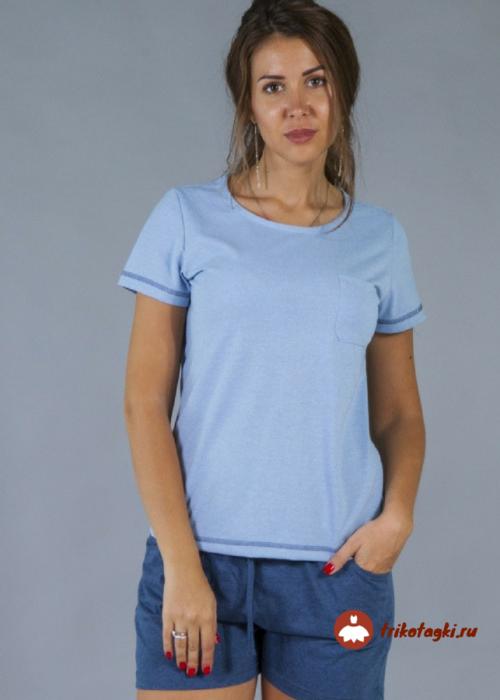 Комплект летний женский голубой