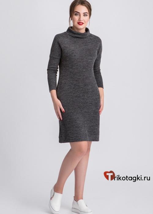 Платье черное до колена