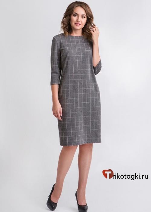 Платье женское классическое клетка