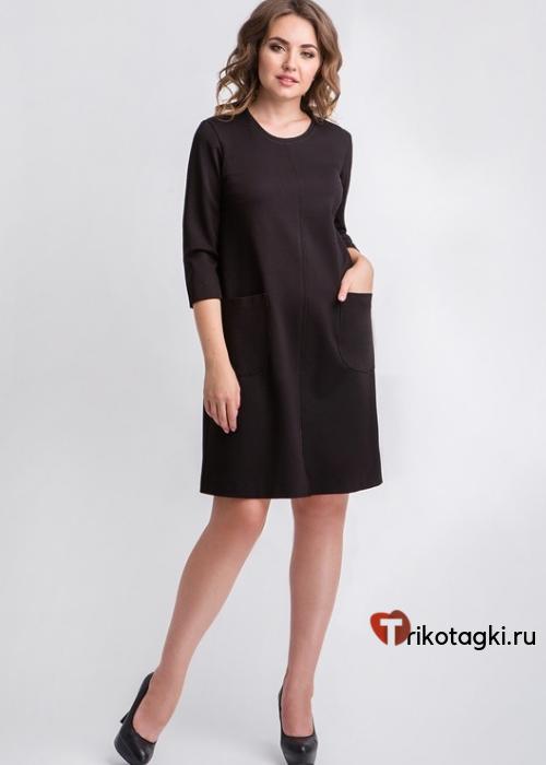 Платье женское классическое черное