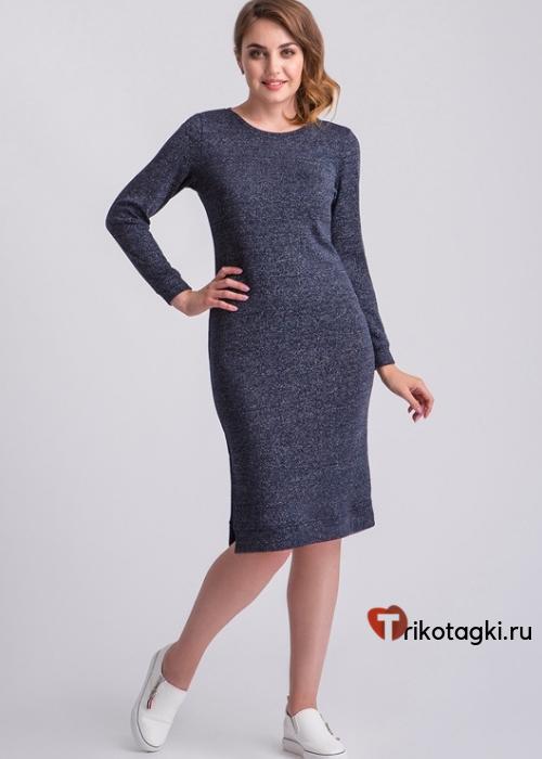 Синее платье по фигуре