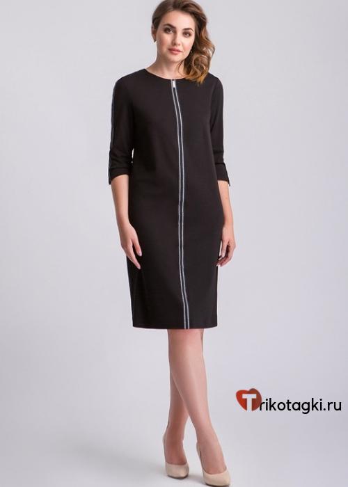 Платье черное отделка полоса