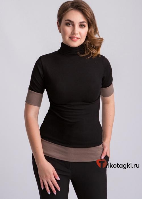 Бадлон женский с коричневыми вставками