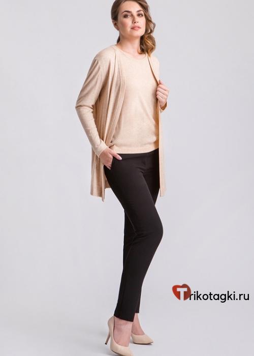 Черные узкие женские брюки
