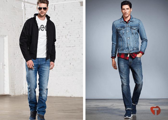 Мужчины в классических джинсах 2018/2019