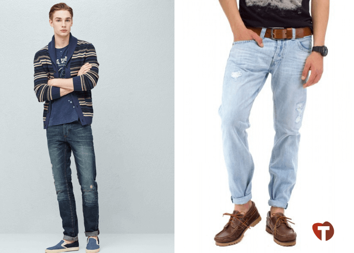 Мужчины в джинсах с подворотами 2018/2019
