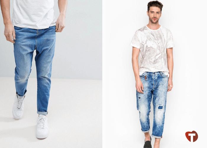 Мужчины в джинсах с заниженной талией 2018/2019