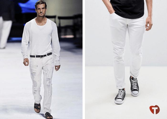 Мужчины в джинсах белых 2018/2019