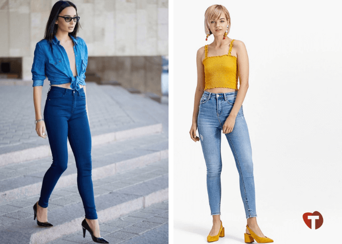 Женские джинсы с завышенной талией 2018/2019